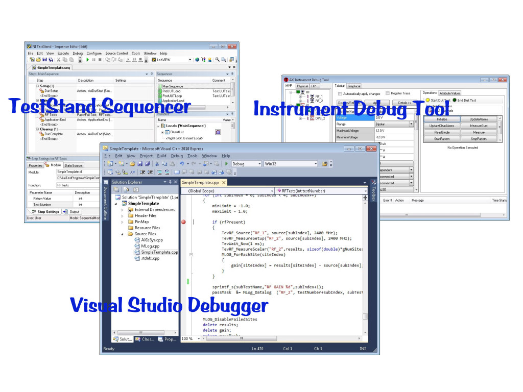 Test Evolution - Program Development and Debug Software